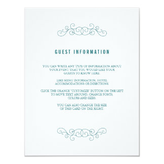 Navy Wedding Insert Card 11 Cm X 14 Cm Invitation Card