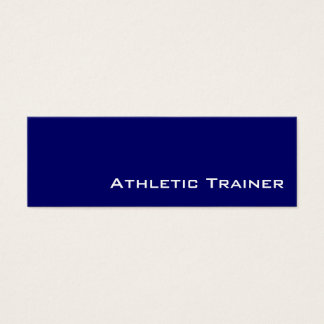 Navy white Athletic Trainer business cards