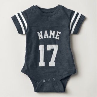 Navy & White Baby | Sports Jersey Design Baby Bodysuit