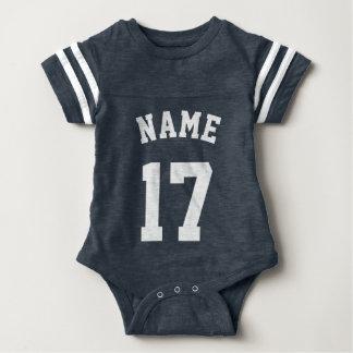 Navy & White Baby | Sports Jersey Design Baby Bodysuit