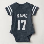 Navy & White Baby | Sports Jersey Design Tshirt