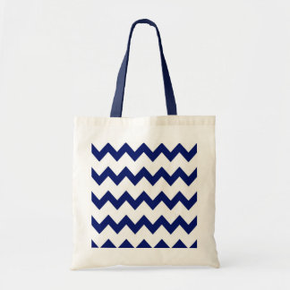 Navy White Chevrons Bag