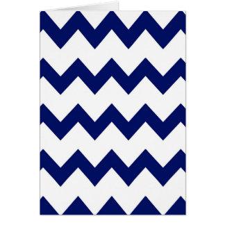 Navy White Chevrons Card