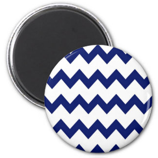 Navy White Chevrons Magnet