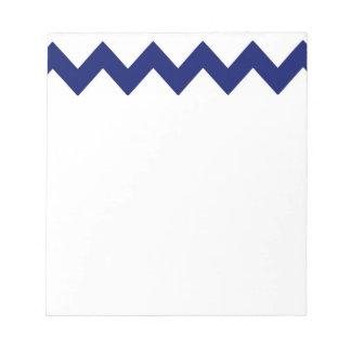 Navy White Chevrons Notepad