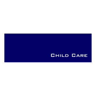 Navy white child care business cards