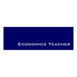 Navy white Economics Teacher business cards