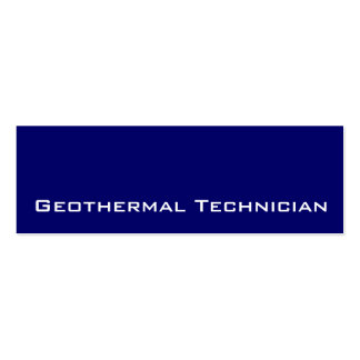 Navy white Geothermal Technician business cards