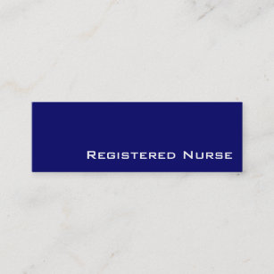 Band aid nurse or caregiver business card navy white registered navy white registered nurse business cards reheart Choice Image