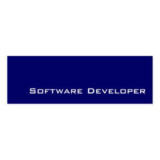 Navy white Software Developer business cards