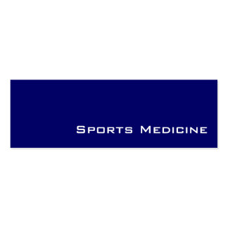 Navy white Sports Medicine business cards