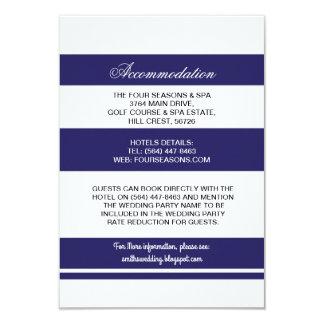 Navy & White Stripe Accommodation Wedding Cards