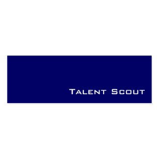 Navy white talent scout business cards