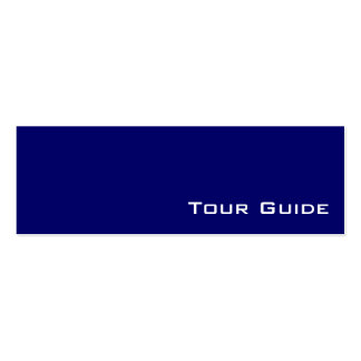 Navy white tour guide business cards