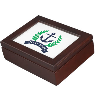 Navy Wife Anchor Memory Boxes