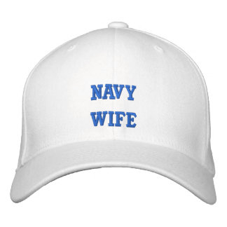 Navy Wife Embroidered Baseball Caps
