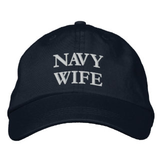 Navy Wife embroidered cap