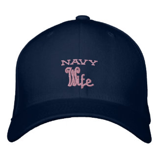 Navy Wife Embroidered Hat