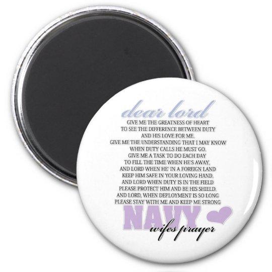 Navy Wife's Prayer Magnet