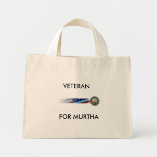 NavyBanner, VETERAN, FOR MURTHA Canvas Bags