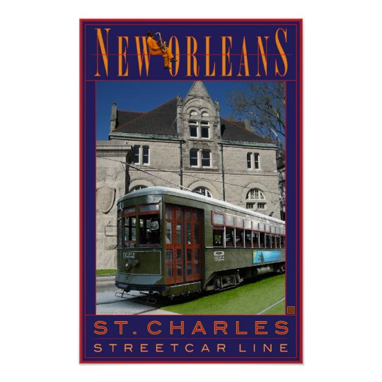 N'awlins Streetcar-Print Poster