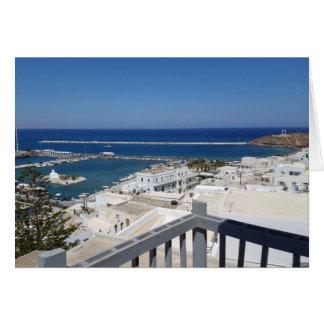 Naxos Town - Greece Card