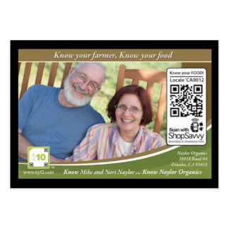 Naylor Organics Traceable Shelftalker Pack Of Chubby Business Cards