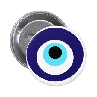 Nazar amulet (nazar boncuğu) 6 cm round badge