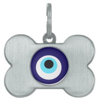 Nazar amulet (nazar boncuğu) pet name tag