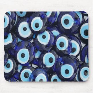 Nazar Amulets Evil Eye Stones Blue Pattern Mouse Mat