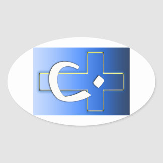 Nazarene Cross #1 Oval Sticker