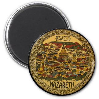 Nazareth Cityscape 6 Cm Round Magnet