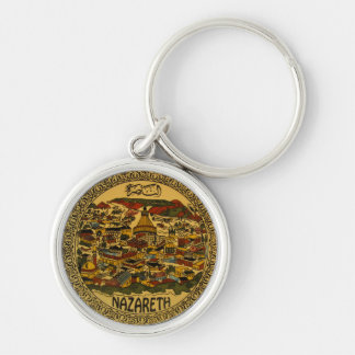 Nazareth Cityscape Silver-Colored Round Key Ring