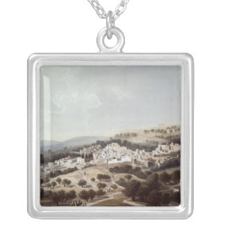 Nazareth, engraved by Terry Silver Plated Necklace