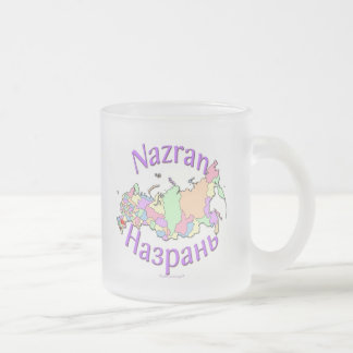 Nazran Russia 10 Oz Frosted Glass Coffee Mug
