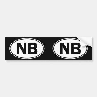NB Oval Identity Sign Bumper Sticker