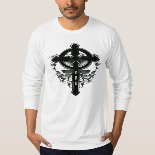NBE gothic cross & skulls t shirt