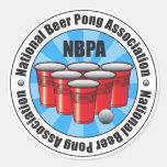 NBPA National Beer Pong Association Starburst Round Sticker