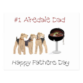 Nbr 1 Airedale Dad Postcard