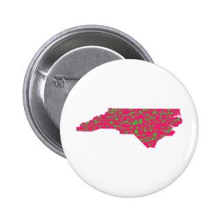 NC Cities 6 Cm Round Badge