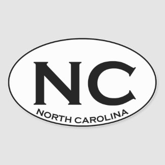 NC - North Carolina Oval Sticker