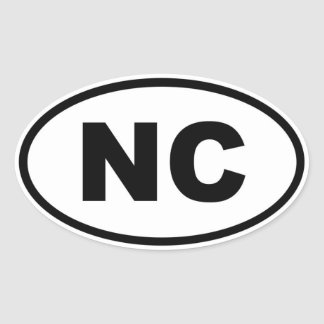 NC North Carolina Oval Sticker