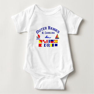 NC Outer Banks Signal Flags Baby Bodysuit
