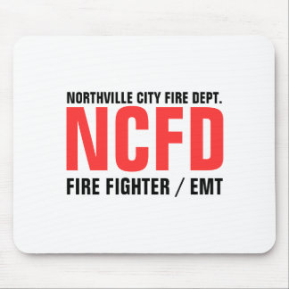 NCFD, NORTHVILLE CITY FIRE DEPT., FIRE FIGHTER ... MOUSE PAD