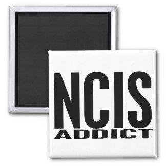 NCIS Addict Square Magnet