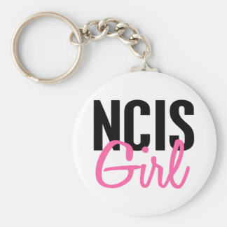 NCIS Girl 4 Basic Round Button Key Ring