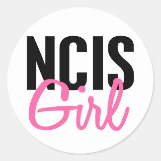 NCIS Girl 4 Round Sticker