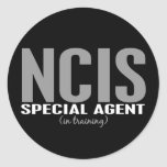 NCIS Special Agent In Training 1 Round Sticker