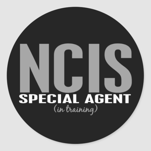 NCIS Special Agent In Training 1 Round Stickers
