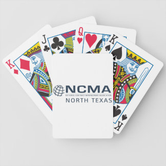 ncma-logo_1color_north-texas Rev 1 Bicycle Playing Cards